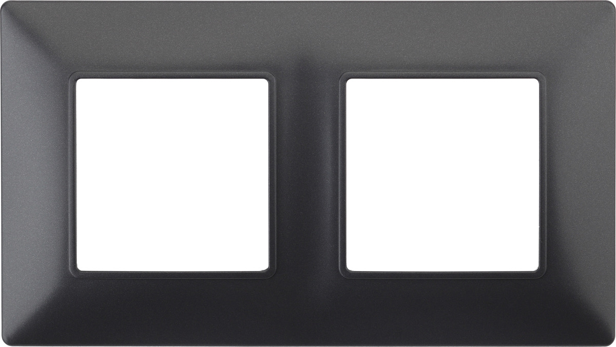 Рамка электроустановочная ЭРА Elegance, на 2 поста, 14-5002-05, антрацит рамка электроустановочная эра elegance на 2 поста 14 5002 05 антрацит
