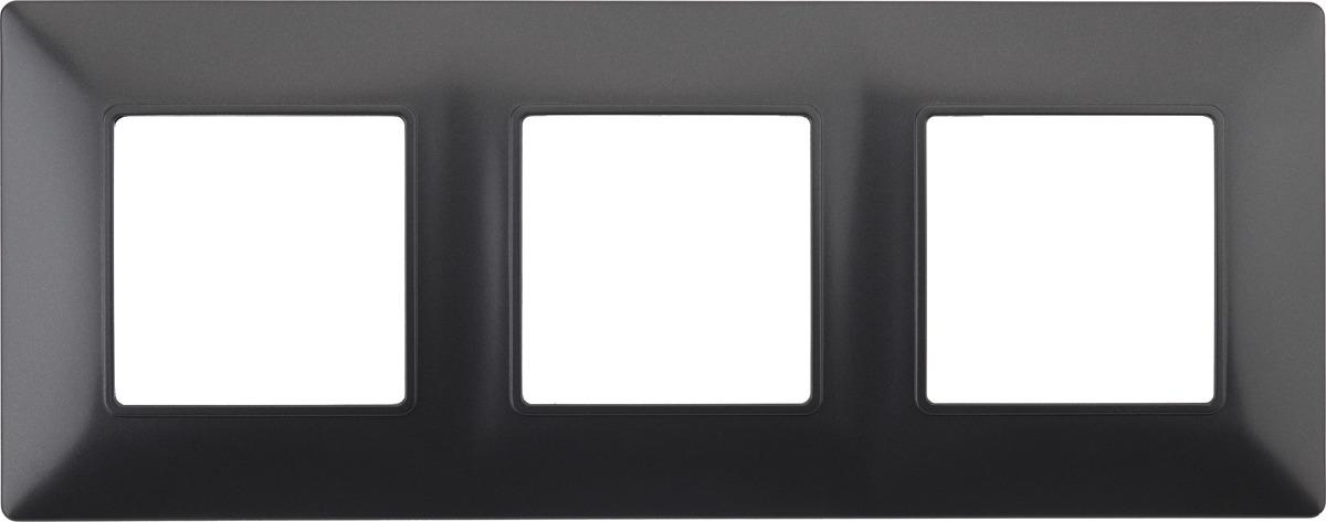 Рамка электроустановочная ЭРА Elegance, на 3 поста, 14-5003-05, антрацит рамка электроустановочная эра elegance на 2 поста 14 5002 05 антрацит