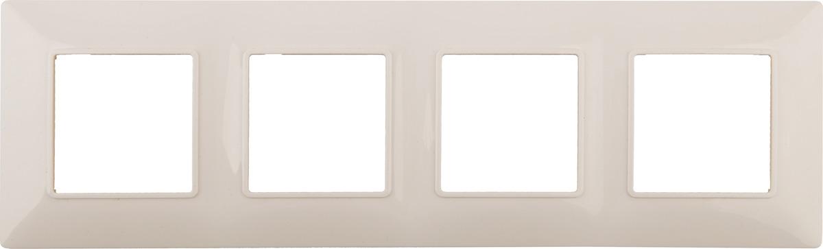Рамка электроустановочная ЭРА Elegance, на 4 поста, 14-5004-02, слоновая кость цены