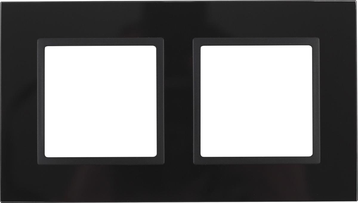 Рамка электроустановочная ЭРА Elegance, на 2 поста, 14-5102-05, антрацит, черный рамка электроустановочная эра elegance на 2 поста 14 5002 05 антрацит