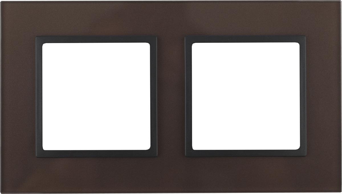 Рамка электроустановочная ЭРА Elegance, на 2 поста, 14-5102-13, антрацит, бронза рамка электроустановочная эра elegance на 2 поста 14 5002 05 антрацит