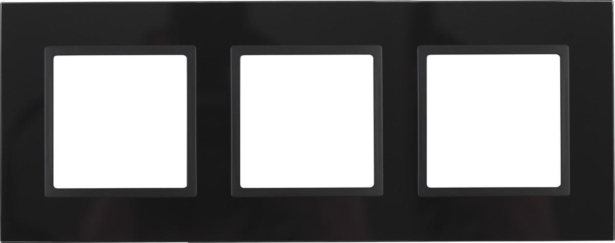 Рамка электроустановочная ЭРА Elegance, на 3 поста, 14-5103-05, антрацит, черный рамка электроустановочная эра elegance на 2 поста 14 5002 05 антрацит
