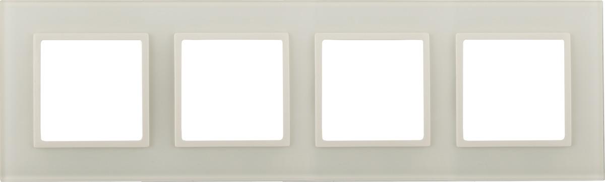 Рамка электроустановочная ЭРА Elegance, на 4 поста, 14-5104-02, слоновая кость цены