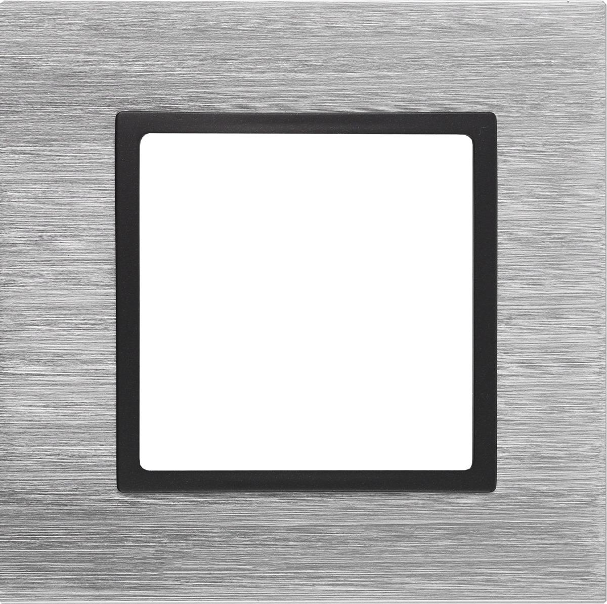 Рамка электроустановочная ЭРА Elegance, на 1 пост, 14-5201-41, стальной simon simon 82 nature сталь матовая графит металл рамка на 1 пост 82817 31