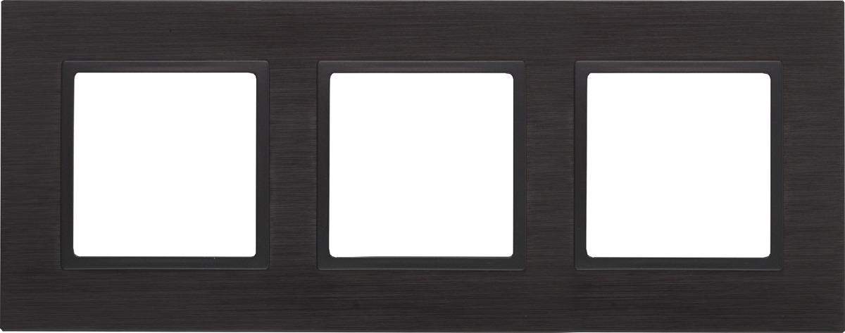 Рамка электроустановочная ЭРА Elegance, на 3 поста, 14-5203-05, антрацит, черный рамка электроустановочная эра elegance на 2 поста 14 5002 05 антрацит