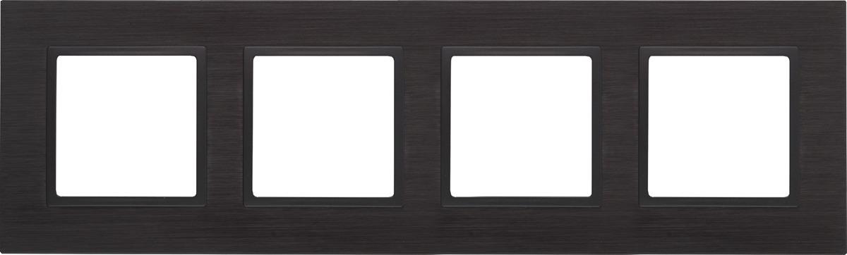 Рамка электроустановочная ЭРА Elegance, на 4 поста, 14-5204-05, антрацит, черный рамка электроустановочная эра elegance на 2 поста 14 5002 05 антрацит