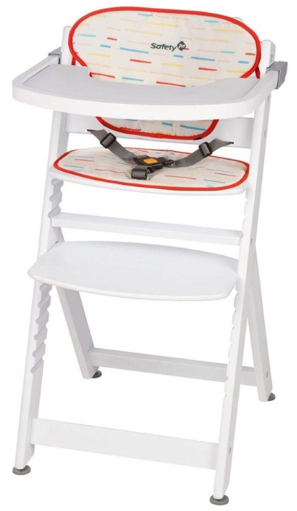Стульчик для кормления Safety 1st Timba + мягкий вкладыш белый накладки для кормления авент