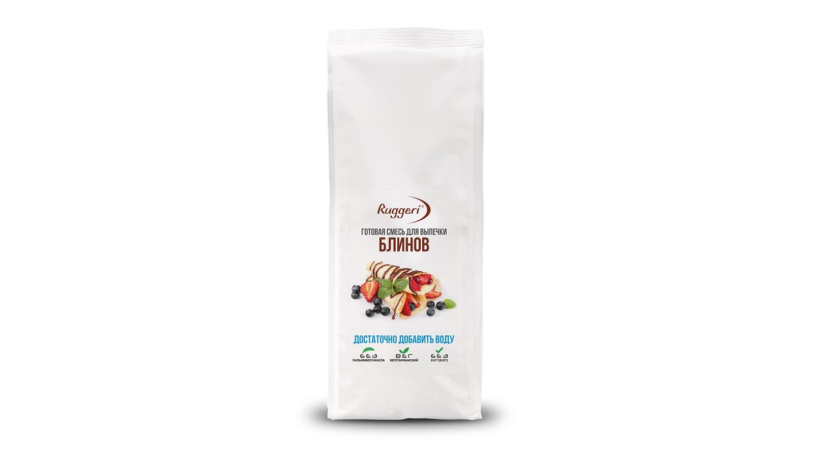 Смесь для выпечки Ruggeri Готовая блинов, 500г, 500 смесь для выпечки почти печенье матча шоколад кокос 370 г