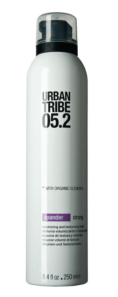 Мусс для волос URBAN TRIBE 05.2 Xpander Strong52159Пенка для придания объема и текстуры 05.2 Xpander StrongИдеальный продукт для живых, объемных укладок: придает волосам текстуру, максимальный объем и сияние, не склеивая их, а также защищает от УФ-лучей и теплового воздействия.