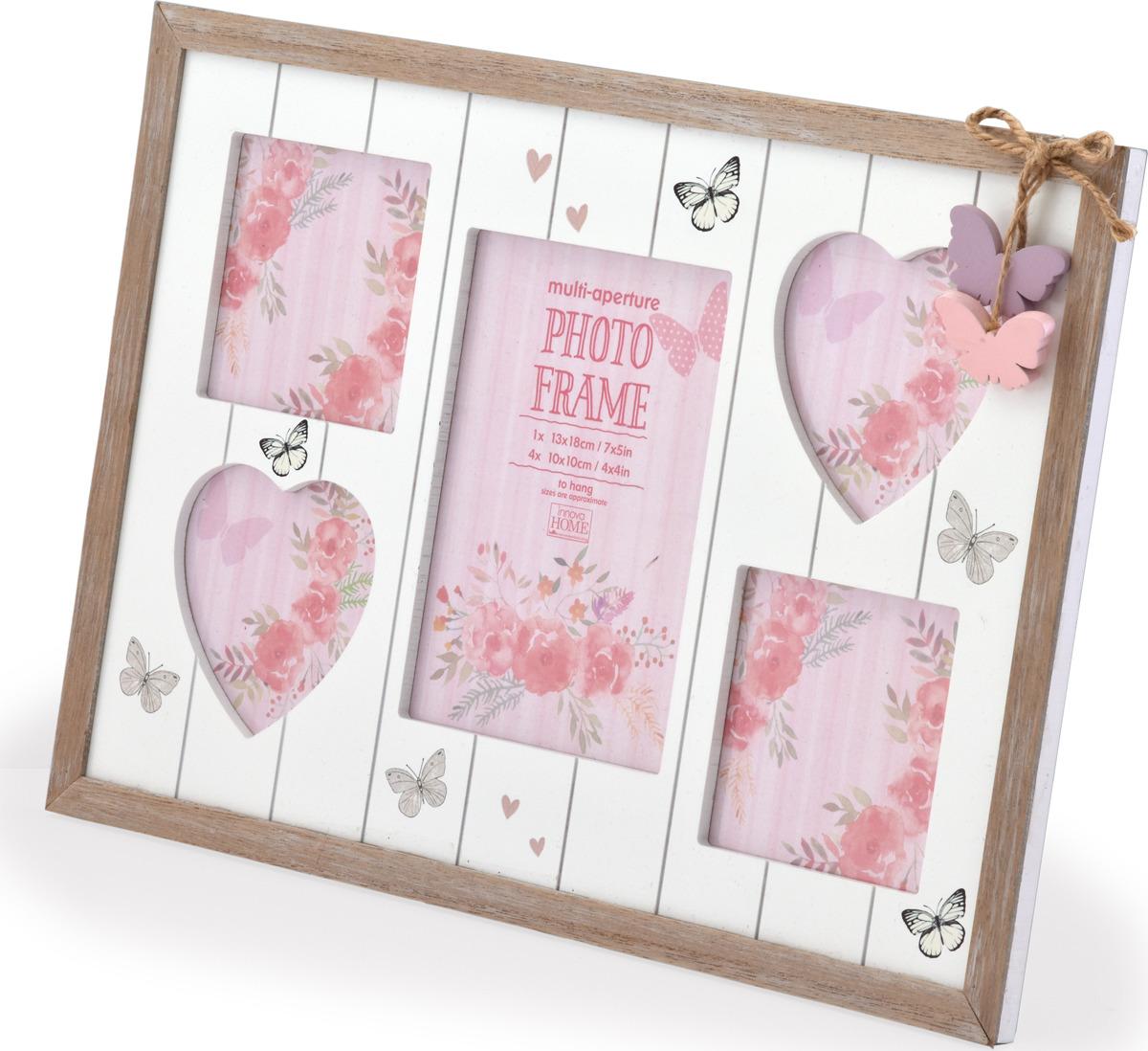 Фоторамка Innova Hearts and Butterflies, на 5 фото рамка для фото innova maggiore v 10х15 10 pi1196