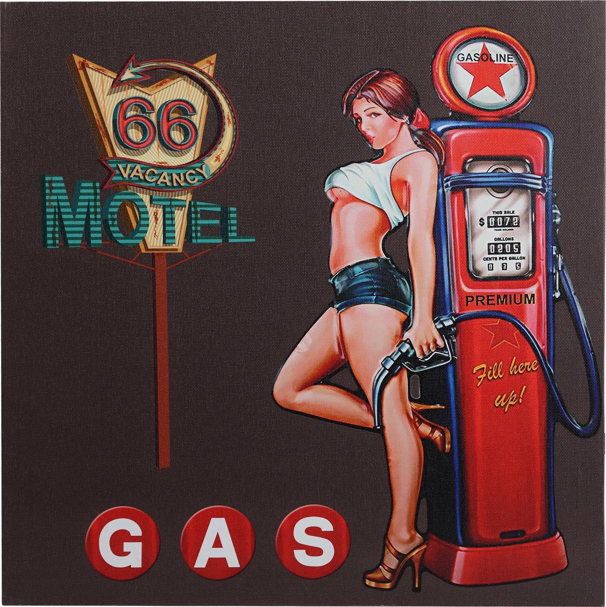 Канвас Innova LED Canvas Pin Up Girl Gasoline, с LED подсветкой цена