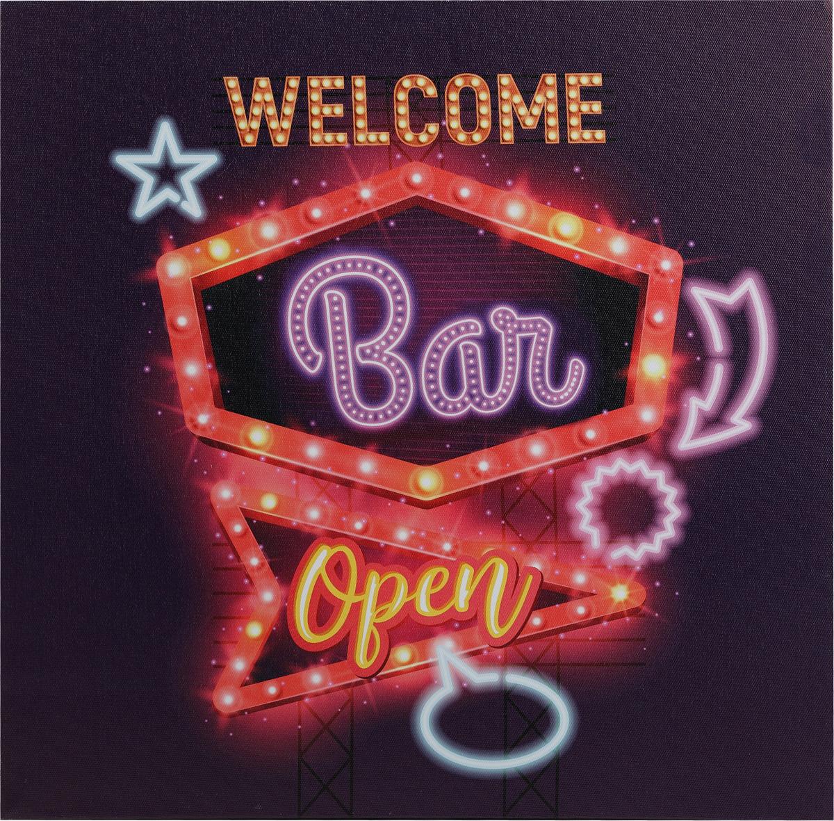 Канвас Innova LED Canvas Welcome Bar, с LED подсветкой картина тв не работает
