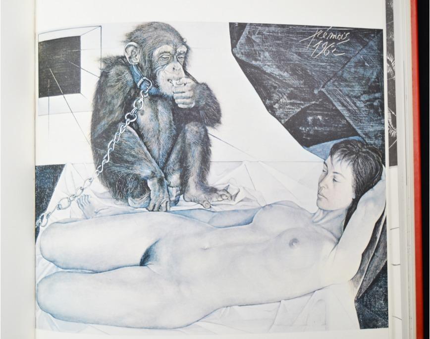 Графическая работа Club du Livre Книга Эроса (Le Livre Eros). Пьер-Ив Тремуа.  Paris, Париж, 1970 год Club du Livre