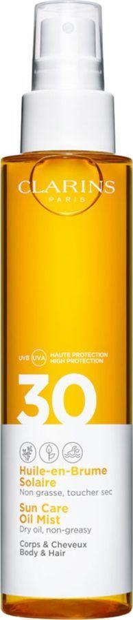 Солнцезащитное масло-спрей для тела и волос Clarins Huile-en-Brume Solaire, SPF 30, 150 мл