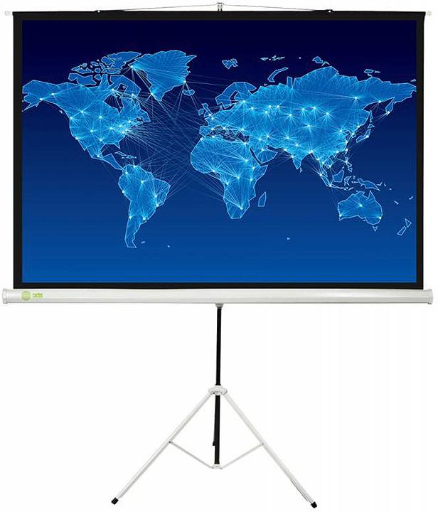 лучшая цена Проекционный экран Cactus Triscreen CS-PST-150x150 1:1, напольный, рулонный, белый