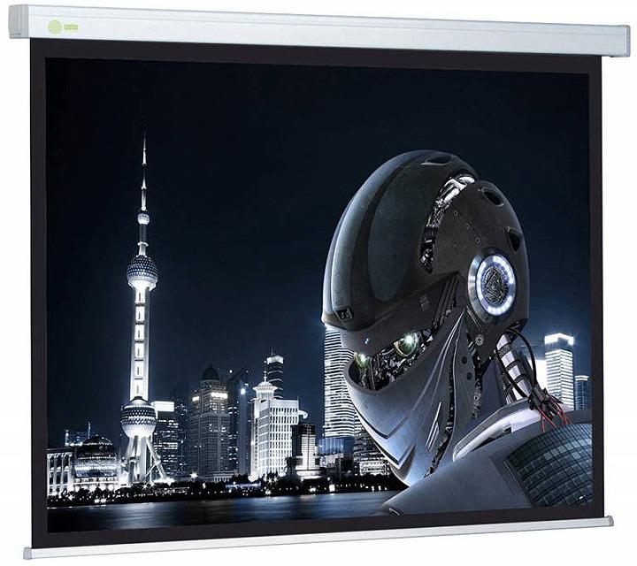 Проекционный экран Cactus Wallscreen CS-PSW-127X127 1:1, настенно-потолочный, рулонный, белый цена и фото