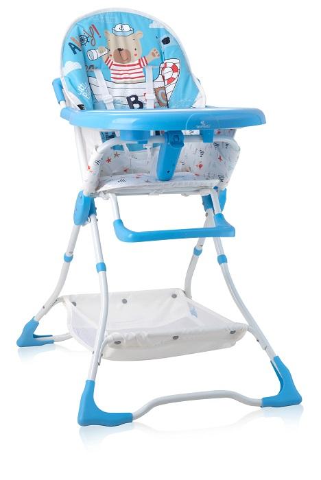 Стульчик для кормления Lorelli Bonbon Blue Sailor, синий стульчик для кормления lorelli