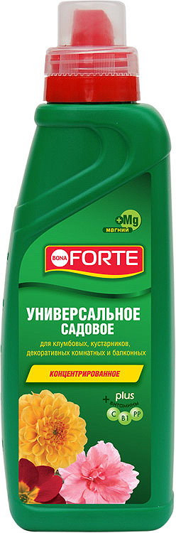 Удобрение минеральное Bona Forte Универсальное садовое, BF21030051, 750 мл удобрение лебозол нутриплант 8 8 6 avgust 5 мл