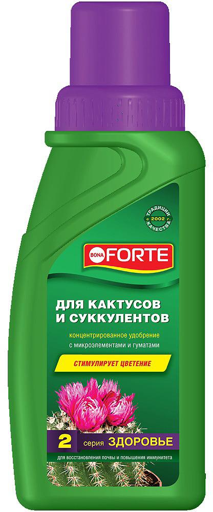 Удобрение органо-минеральное Bona Forte, для кактусов и суккулентов, BF21060201, 285 мл удобрение жк bona forte для роз и хризантем 285 мл