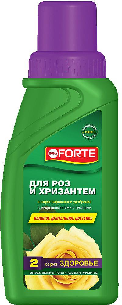 Удобрение органо-минеральное Bona Forte, для роз и хризантем, BF21060301, 285 мл удобрение жк bona forte для роз и хризантем 285 мл