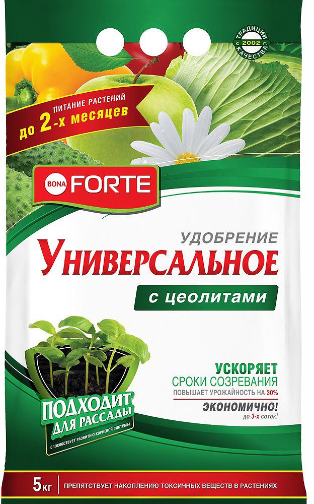 Удобрение Bona Forte Универсальное весна-лето, с цеолитом, BF23010351, 5 кг удобрение пролонгированное bona forte розы и клумбовые с биодоступным кремнием 2 5 кг