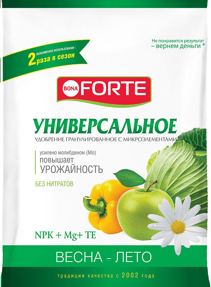 Удобрение комплексное Bona Forte Универсальное весна, с микроэлементами, BF23010511, 4,5 кг недорого