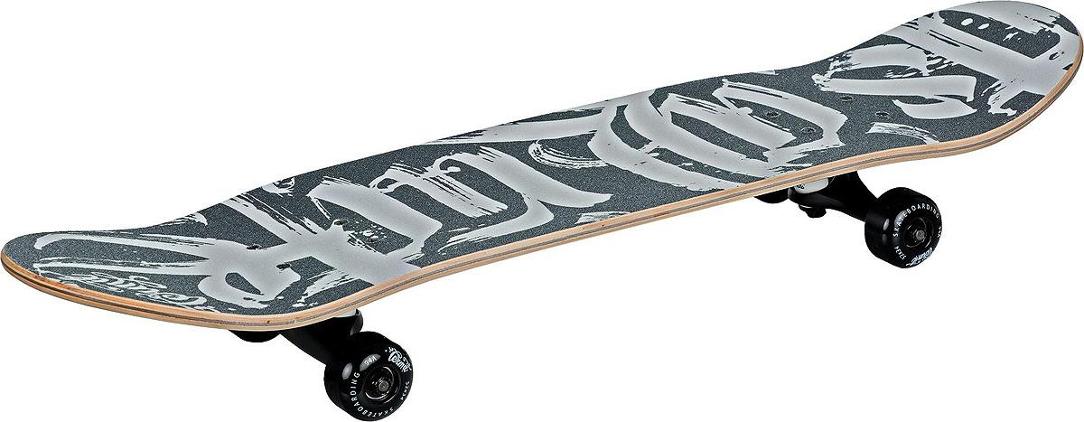 Скейтборд Termit 518, S18ETESB007-BW, черный, белый скейтборд immortal 31 х8 abec 3