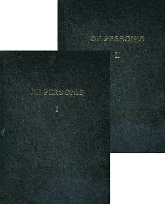 De Personae / О Личностях. Сборник научных трудов. В 2 томах