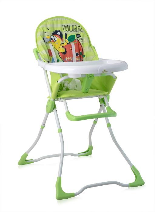 Стульчик для кормления Lorelli Marcel Green Worm, зелёный стульчик для кормления lorelli