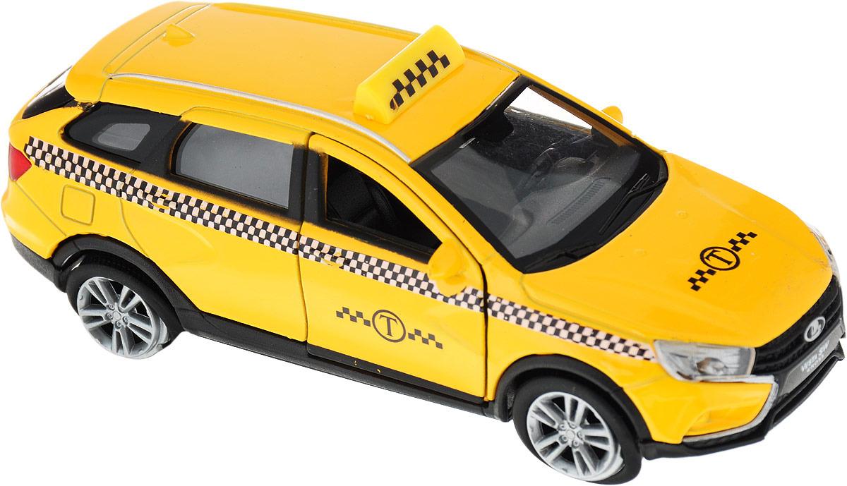 Машинка Welly, LADA Vesta SW CROSS такси машина авто по русски такси 10104апр