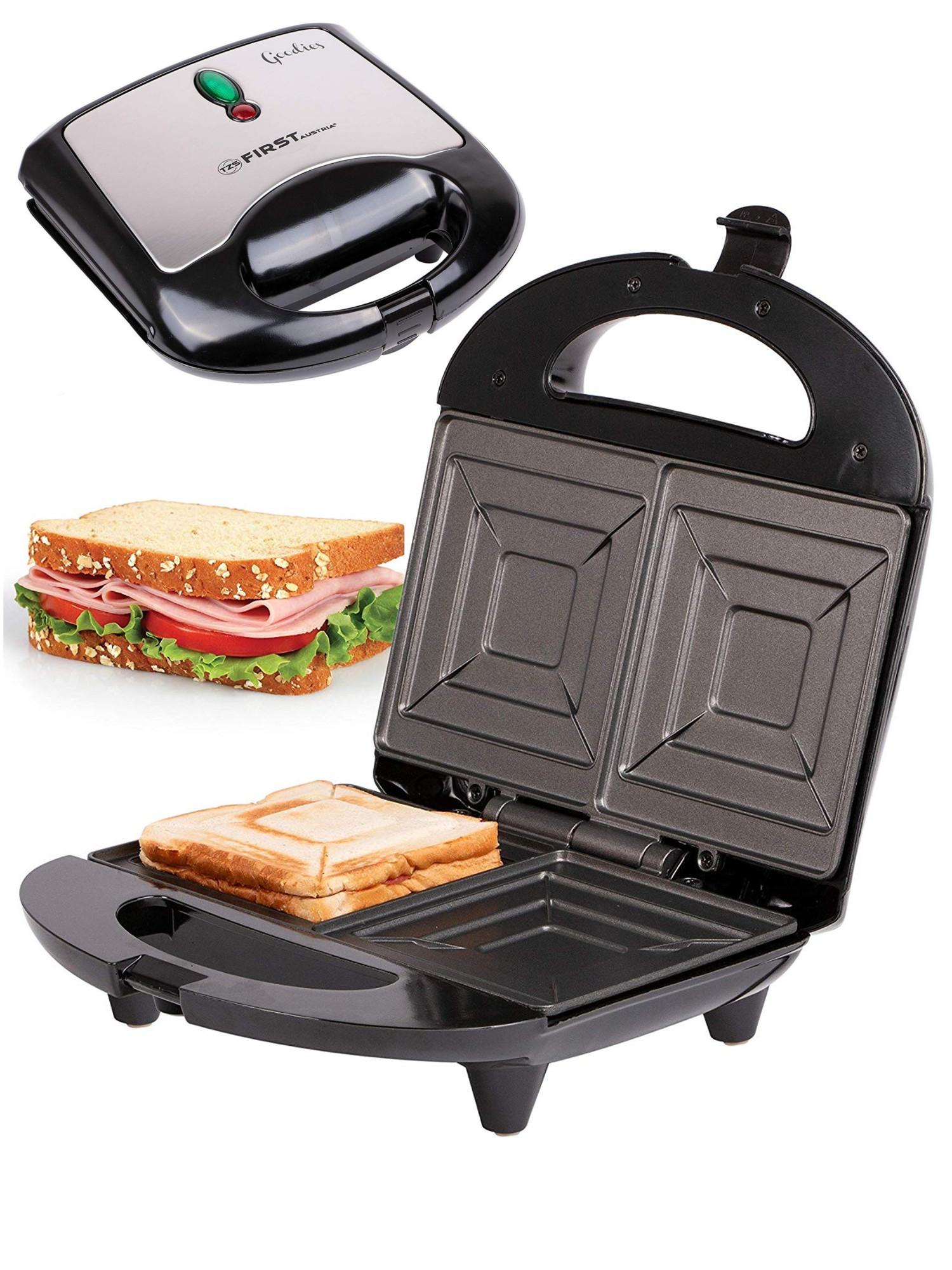 Сендвичница тостер First, 700 Вт, черный