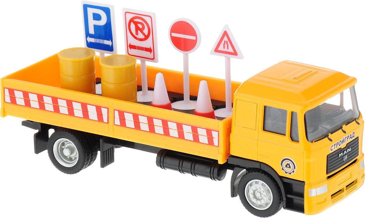 Фото - Игровой набор Wincars Бортовой грузовик U1401B-3 big игровой набор big дорожные знаки 69 см 3 шт