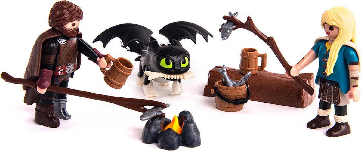 """Конструктор пластиковый Playmobil """"Драконы III Игровой набор Иккинг и Астрид"""", 70040pm"""