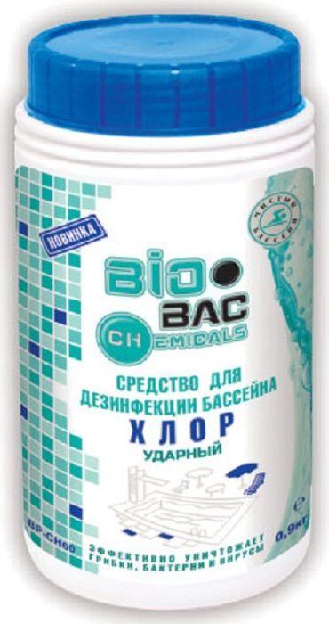 Средство для бассейнов BioBac Хлор 60 ударный дезинфицирующее, 1 кг чистящее средство для унитаза bref сила актив с хлор компонентом 50г