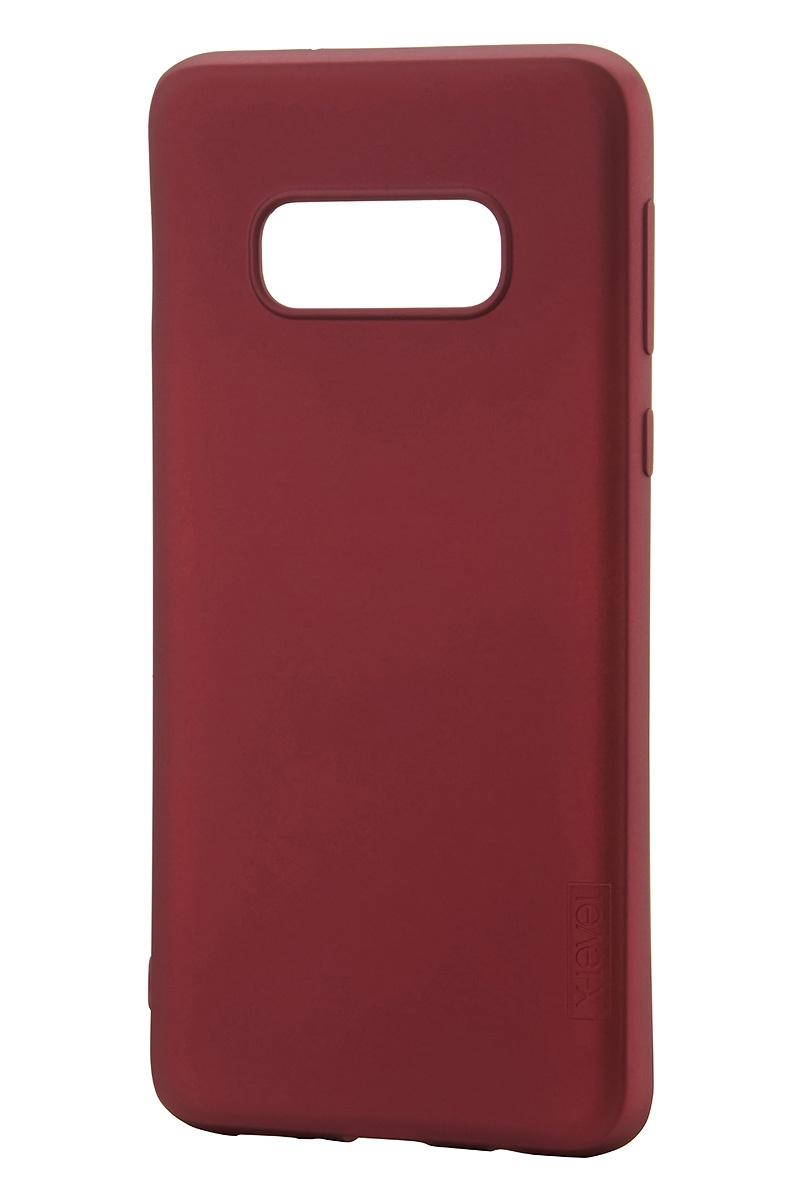 Фото - Чехол для сотового телефона X-level Guardian Series для Samsung S10e, бордовый чехол для сотового телефона x level guardian series для samsung s10e черный