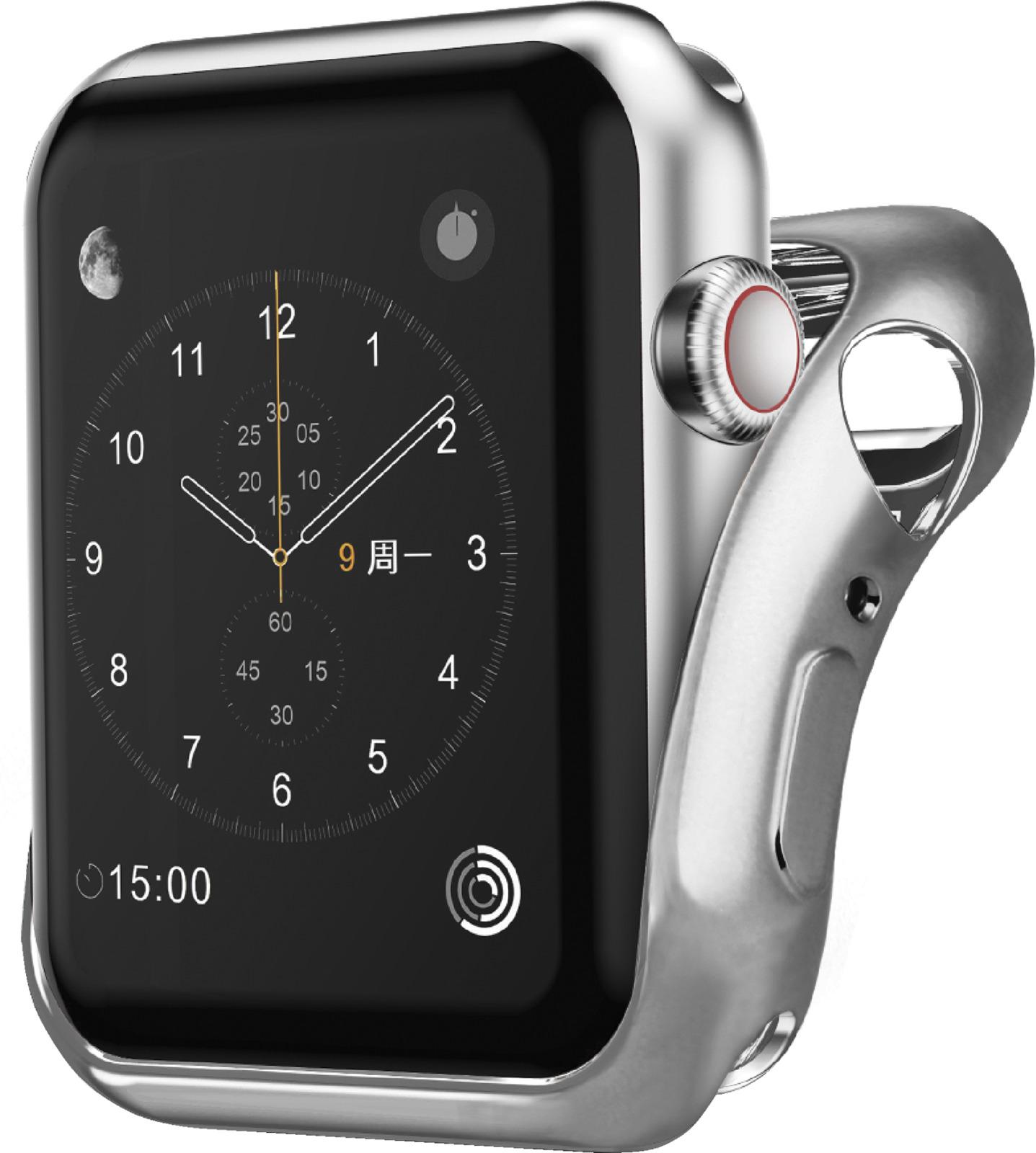 Чехол для смарт-часов Interstep Спортивный для Apple Watch 40mm, серебристый чехол для смарт часов interstep спортивный для apple watch 40mm серебристый