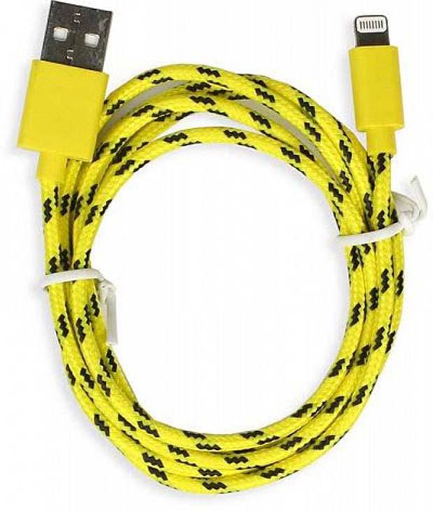 Дата-кабель Smartbuy iK-512n USB - 8-pin для Apple, желтый, 1,2 м цена и фото