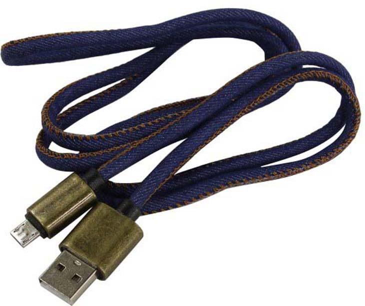 Дата-кабель Smartbuy iK-12 USB - micro USB, джинсовый, 1,2 м