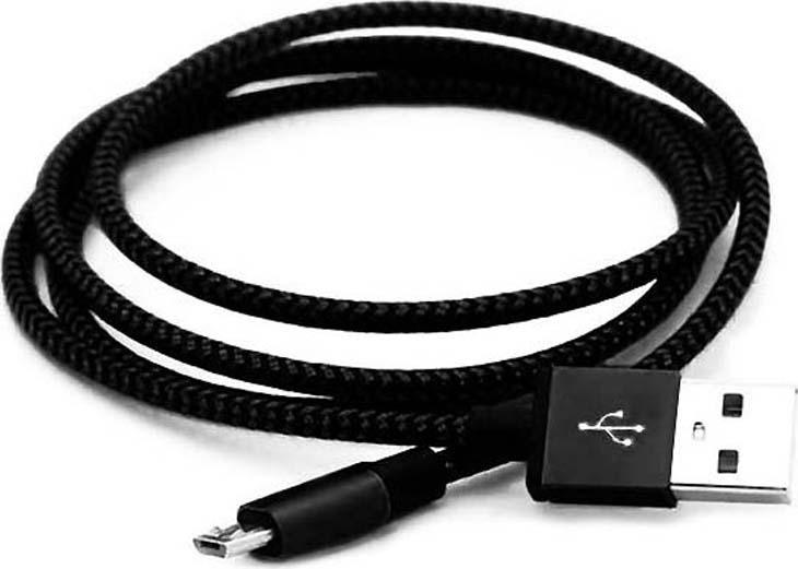 Дата-кабель Smartbuy iK-12 USB - micro USB, черный, 1,2 м цена и фото