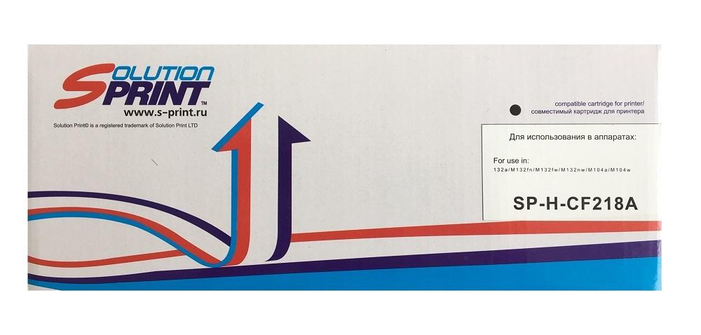 Картридж Solution Print CF218A, черный, для лазерного принтера