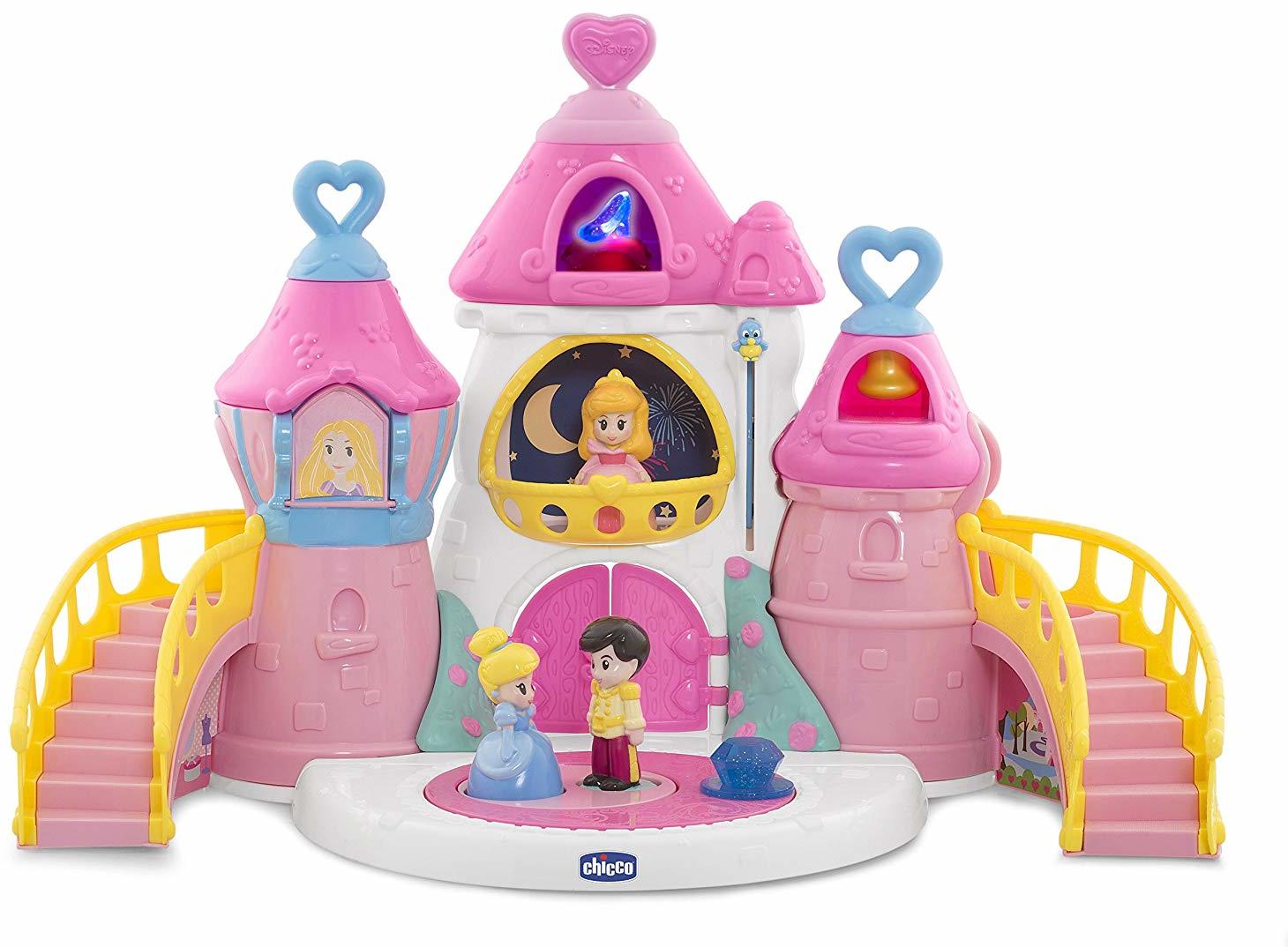 Дом для кукол Chicco Disney светло-розовый развивающий центр chicco волшебный замок принцесс disney