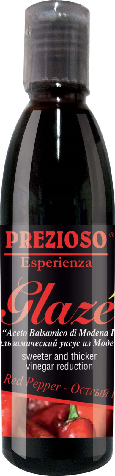 Глазурь Prezioso Esperienza, на основе бальзамического уксуса из Модены, с ароматом острого перца, 250 г ponti топпинг соевый glassa alla soia на основе бальзамического уксуса di modena 250 мл