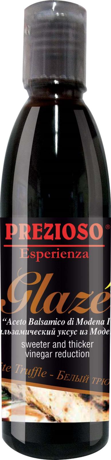 Глазурь Prezioso Esperienza, на основе бальзамического уксуса из Модены, с ароматом белого трюфеля, 250 г ponti топпинг соевый glassa alla soia на основе бальзамического уксуса di modena 250 мл
