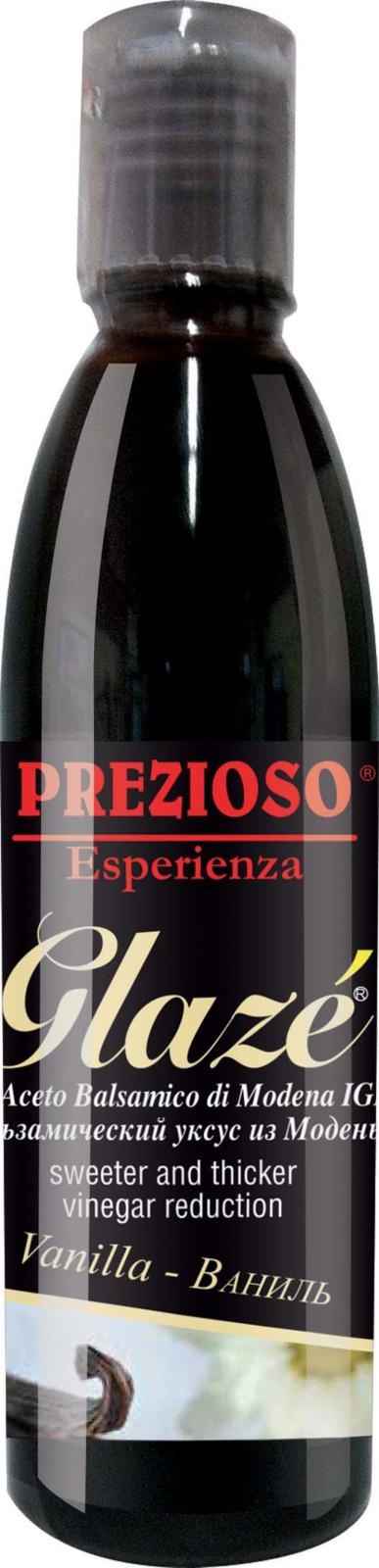 Глазурь Prezioso Esperienza, на основе бальзамического уксуса из Модены, с ароматом ванили, 250 г