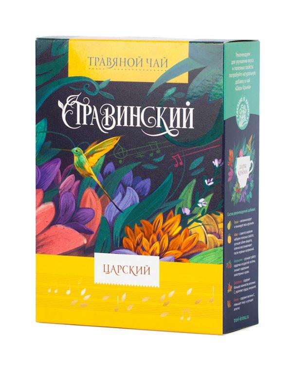 ци травы чай здоровья травяной чай pingyin роза чай 55г Чай листовой Травы Горного Крыма Стравинский Премиум, Царский Сбор, 100