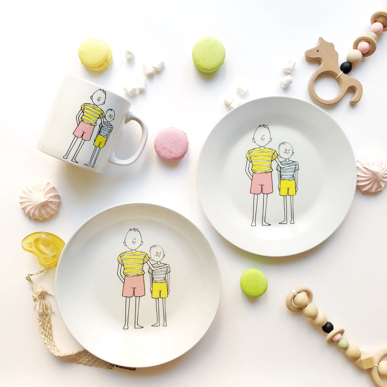 Набор посуды Папа (3 в 1: кружка+тарелка+глубокая тарелка Sans Brides)