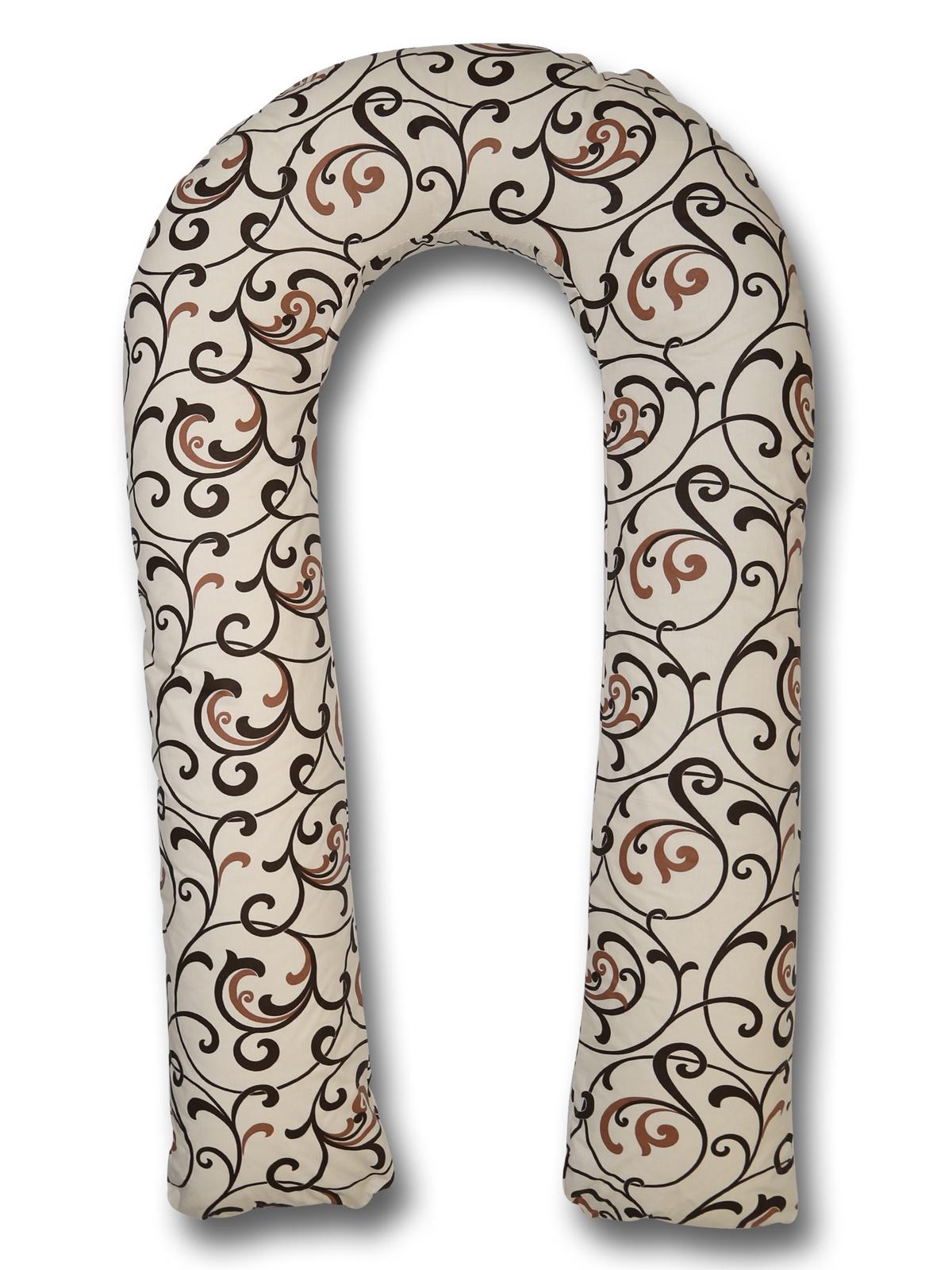 Чехол для подушки для беременных Body Pillow форма U вензеля, бежевый body pillow чехол для подушки для беременных u образный цвет бежевый золотой