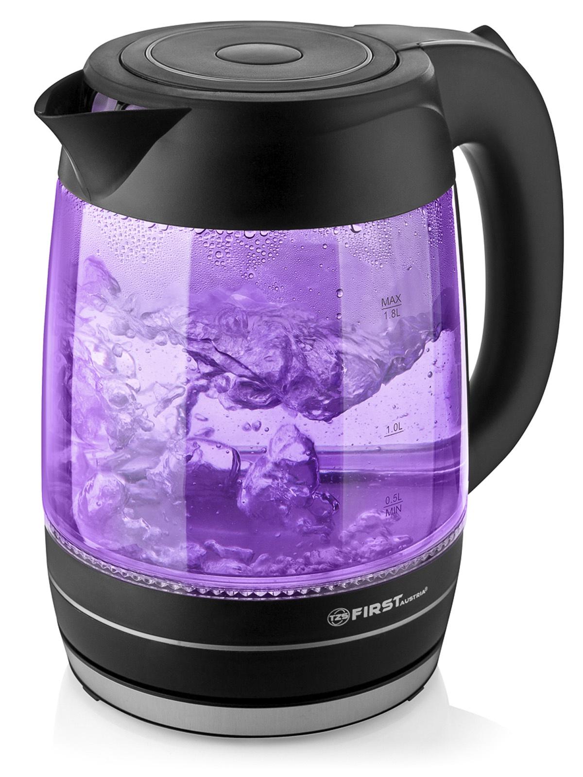 Электрический чайник First FA-5405-3-PU чайник first fa 5427 8 bu 2200 вт белый синий 1 7 л пластик