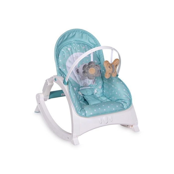Шезлонг для новорожденных Lorelli Enjoy Green Moon Bear, зелёный bertoni lorelli шезлонг качалка 3 в 1 chill out