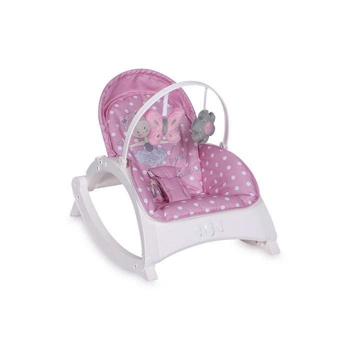 Шезлонг для новорожденных Lorelli Enjoy Pink Ballet, розовый